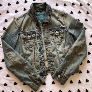 Aeropostale distressed jean jacket 🦋